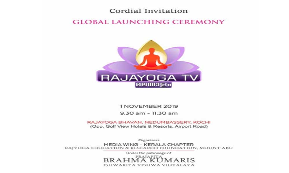 1st NOVEMBER2019 Global Launching Ceremony RAJYOGA TV 9.30 am