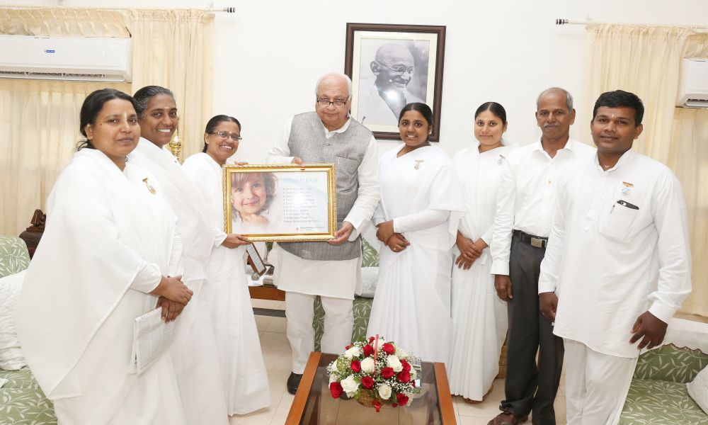 Brahmakumari Sisters honouring new Governor of Kerala, Shri Arif Mohammad Khan at Raj Bhavan